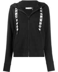 DKNY Cotton Logo Hoodie - Black