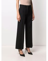 Valentino Tailored Wide-leg Trousers - Black