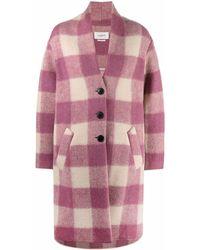 Étoile Isabel Marant Gabirel Wool Coat - Pink