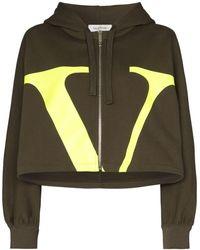 Valentino Vlogo Jersey Sweatshirt - Green