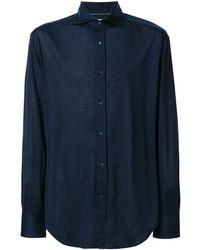 Brunello Cucinelli Camicia In Seta - Blu