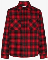 Off-White c/o Virgil Abloh Flannel Check Shirt - Red