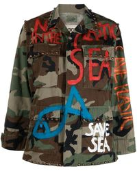 P.A.R.O.S.H. Giacca con stampa camouflage - Marrone