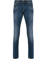 Dondup High-rise Slim Fit Jeans - Blue