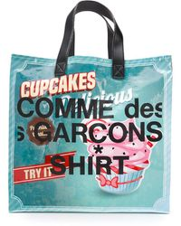 Comme des Garçons Borsa Shopping Con Logo - Multicolore