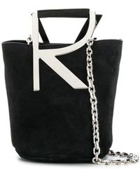 Roger Vivier Leather Bucket Bag - Black