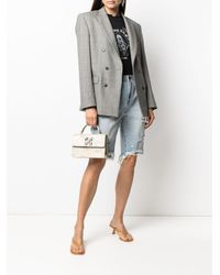 One Teaspoon Distressed-finish Knee-length Shorts - Blue