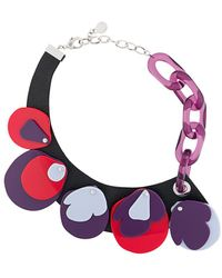 Emporio Armani Geometric Charms Necklace - Multicolour