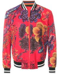 Paul Smith - Floral Printed Bomber - Lyst
