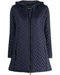 Emporio Armani Coats Blue