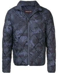 Michael Kors Giubbino Con Motivo Camouflage - Blu