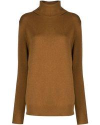 Dolce & Gabbana Turtleneck Cashmere Sweater - Brown