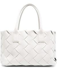 Bottega Veneta Cabat Leather Maxi Tote Bag - White