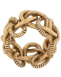 Saint Laurent Chain-link Ring - Metallic