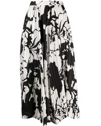 Ferragamo Patterned A-line Skirt - White
