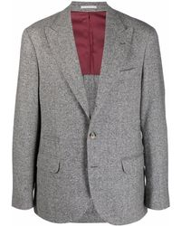 Brunello Cucinelli - Jackets Grey - Lyst