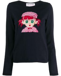 Comme des Garçons Intarsia-girl Wool-blend Sweater - Multicolor