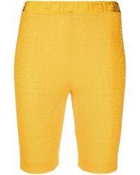 Fendi Shorts Orange - Multicolor