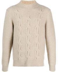 Drumohr Cable-knit Turtleneck Jumper - Natural
