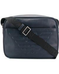 Emporio Armani - Leather Messenger Bag - Lyst