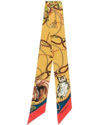 Dolce & Gabbana Animal-print Silk Bandeau - Yellow