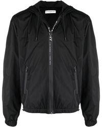 Givenchy Logo Stripe Hooded Windbreaker - Black