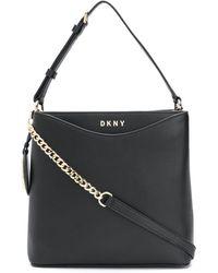 DKNY Logo Tag Shoulder Bag - Black
