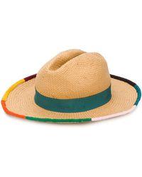 Paul Smith Trilby Straw Hat - Brown