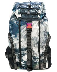 Stella McCartney We Are The Weather Satellite-print Backpack - Multicolour