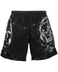 Alexander McQueen Skull Pattern Swimming Shorts - Black