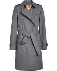 Burberry - Kensington Cotton Trenc Coat - Lyst