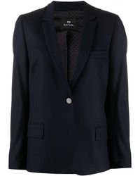 PS by Paul Smith Wool Jacket - Blue