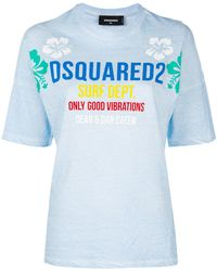 DSquared² - Surf School T-shirt - Lyst