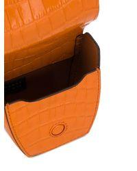 Danse Lente Magnetic Box Crossbody Bag - Orange