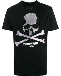Philipp Plein Ss Skull Logo Print T-shirt - Black