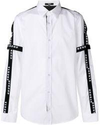 Versus Logo Print Cotton Shirt - White