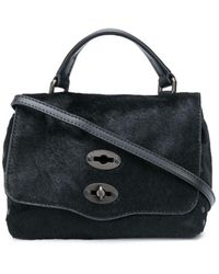 Zanellato Postina Baby Leather Handbag - Black