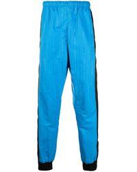 Marine Serre Pantaloni elasticizzati con design color-block - Blu