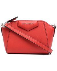 Givenchy Borsa Antigona Nano In Pelle - Rosso