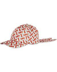 Burberry Cappello da baseball con stampa - Rosso