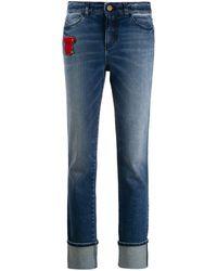 Emporio Armani Teddybear Patch Jeans - Blue