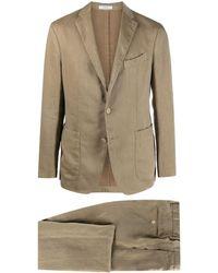 Boglioli Single-breasted Linen Suit - Natural