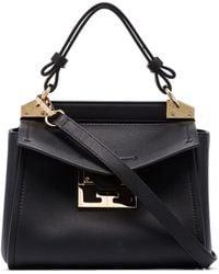 Givenchy Mini Mystic Leather Top Handle Bag - Black