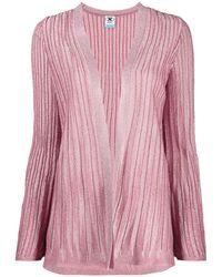 M Missoni Ribbed Cardigan - Pink