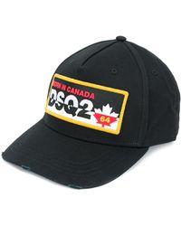 DSquared² Logo Embroidered Cap - Black