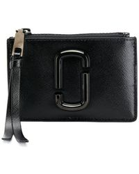 Marc Jacobs Snapshot Leather Wallet - Black