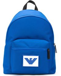 Emporio Armani Logo Patch Backpack - Blue
