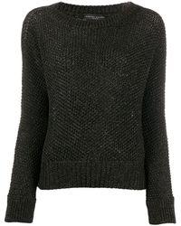 Fabiana Filippi Metallized Crew-neck Sweater - Black