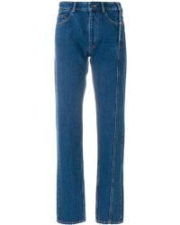 Y. Project - Cotton Jeans With Zip - Lyst