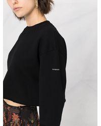 Givenchy Cropped Logo-print Sweatshirt - Black
